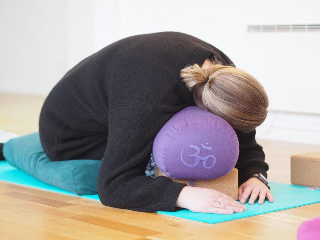 restorative yoga pose